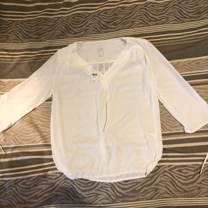 NY&C white 3/4 sleeve blouse - new with tags xs